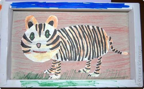 """Приглашаю вас  полюбоваться тиграми, сделанными учащимися нашей школы Это """"солнышко"""" связала Сысоева Яна фото 14"""