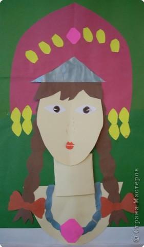 С ребятами вторых классов сделали характерный портрет королевишны фото 13