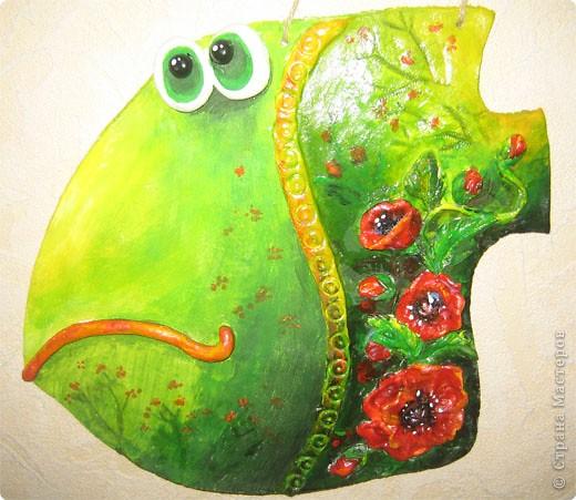 Лепка: Рыбка с маками фото 1