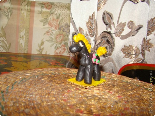 Черный конь. Работа сына. Ему было 4 года. Преподаватель Володина Е.В.