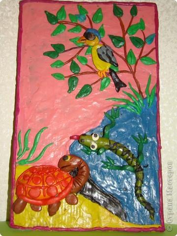 Работа сына. 9 лет. Преподаватель Володина Е.В. Эта работа была на прошлогодней новогодней выставке...