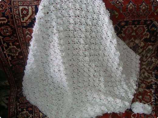 Вязание крючком: теплый плед для малыша
