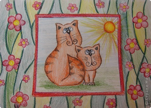 Рисование и живопись: Котики фото 1
