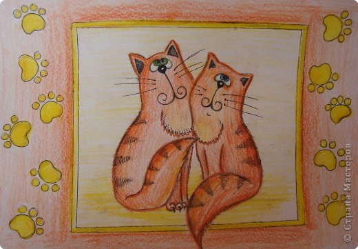 Рисование и живопись: Котики фото 3