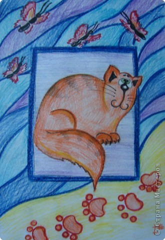 Рисование и живопись: Котики фото 2