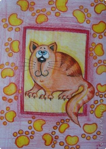 Рисование и живопись: Котики фото 4