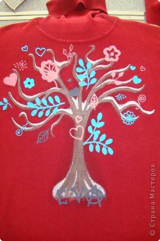 Подарок маме - рисунок на футболке. фото 6