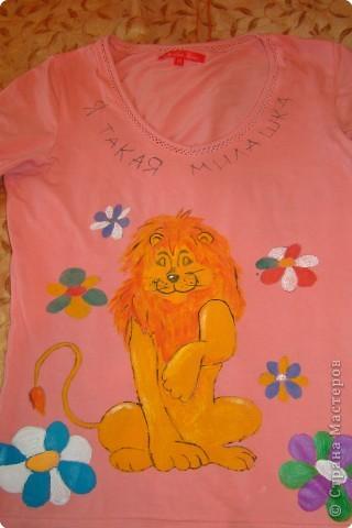 Подарок маме - рисунок на футболке. фото 8