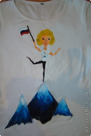Подарок маме - рисунок на футболке. фото 9