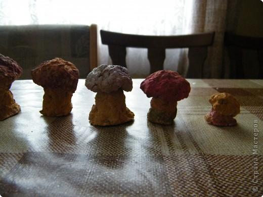 Папье-маше: грибочки из папье-маше фото 2