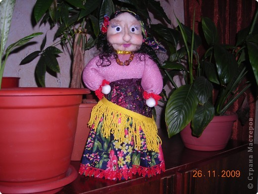 К внуку приходила детский врач,увидела моих кукол и попросила  сделать ей одну.А наш район  называется Цыганский,вот так получилась  эта кукла в подарок.