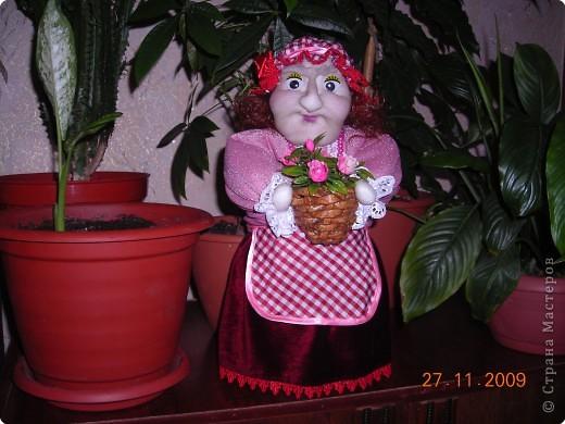 А эту куклу я сделала для интерьра на кухню фото 1