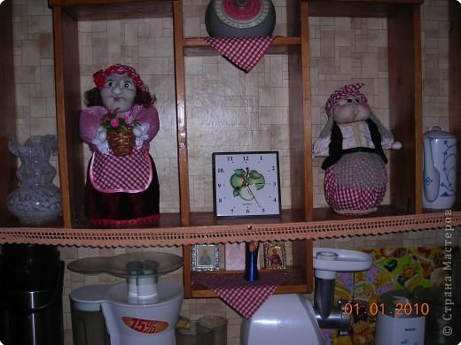 А эту куклу я сделала для интерьра на кухню фото 2
