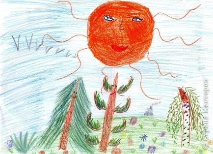 Рисунок ученицы 2 класса Некрасовой Евы