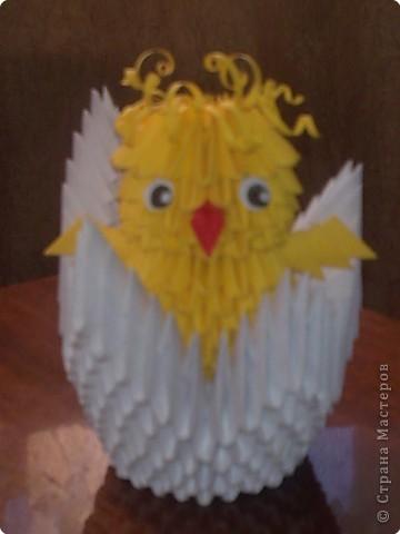 Модульное оригами - Цыпленок Здравствуй, мир.