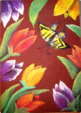 Рисование и живопись: Среди тюльпанов
