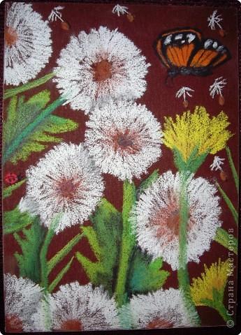 Рисование и живопись: Лилии на наждачной бумаге фото 2