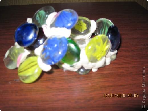 Вика любит творить из стекляшек (для оформления аквариума). Эти работы делали вместе.  фото 2