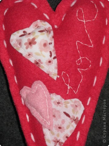 Шитьё: мягкие валентинки фото 7