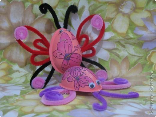 Декупаж: киндер-бабочки