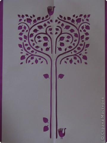 Вырезание, Вырезание симметричное, Вытынанка: ВЫТЫНАНКА-дерево
