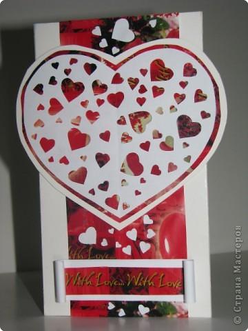 Вырезание, Вытынанка: открытка-валентинка(вытынанка) фото 1