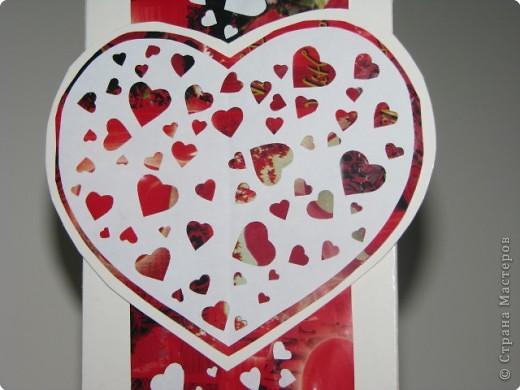 Вырезание, Вытынанка: открытка-валентинка(вытынанка) фото 2
