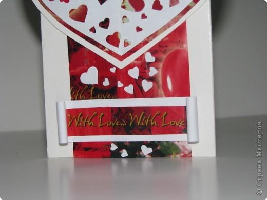 Вырезание, Вытынанка: открытка-валентинка(вытынанка) фото 3