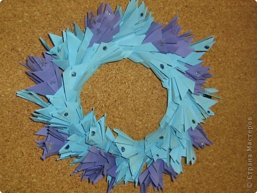 Оригами модульное: Рождественские венки фото 1