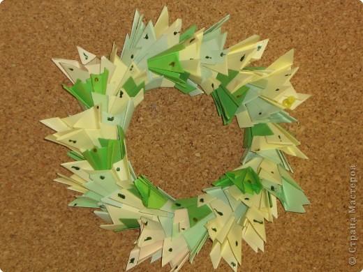 Оригами модульное: Рождественские венки фото 2