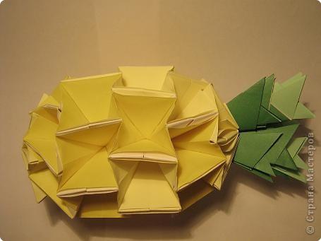 Оригами: Ананас МК фото 15