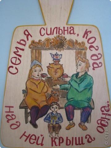 Придумывали сюжет росписи по народным пословицам. Выполняли работы ученики 7-9 кл. фото 2
