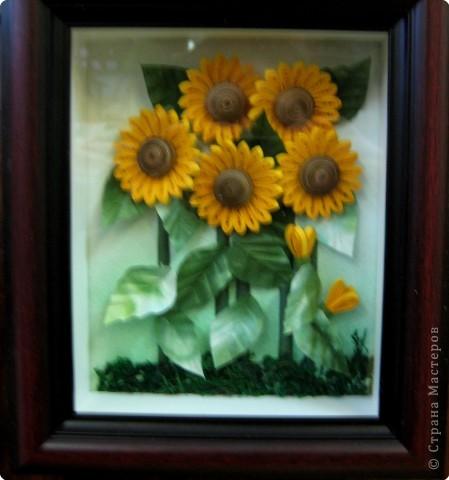 """Эта самая первая работа. Сначала это казалось невыполнимым. """"Желтые цветы"""" фото 4"""