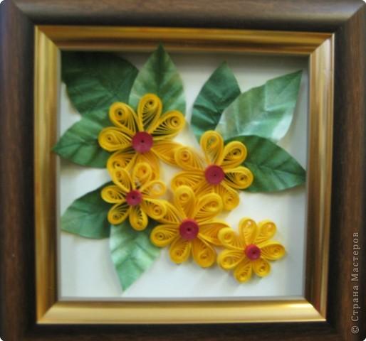 """Эта самая первая работа. Сначала это казалось невыполнимым. """"Желтые цветы"""" фото 1"""