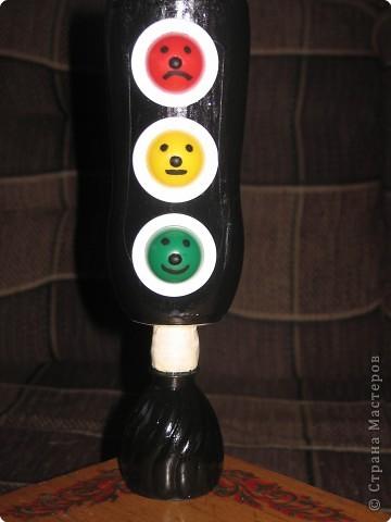 Поделки из бутылки светофор