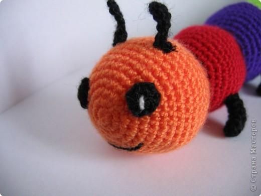 Вязание крючком: гусеница фото 2