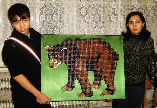 Оригами китайское модульное Медведь - оригами-мозаика Бумага фото 3.