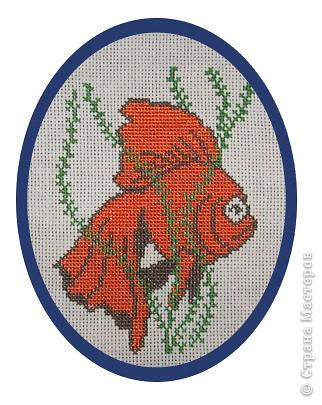 Вышивка крестом золотая рыбка