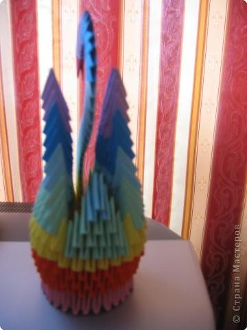 Оригами модульное: Лебедь фото 3