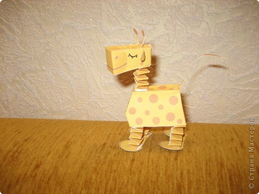 Бумагопластика: Маленький жираф фото 1