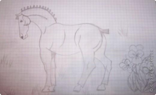 Рисование и живопись: Лошадка фото 2