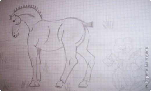 Рисование и живопись: Лошадка фото 1