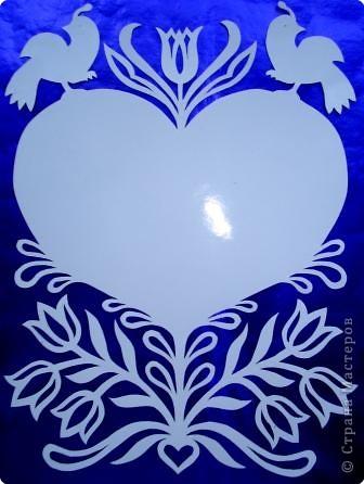 Вырезание симметричное: Валентинки фото 1