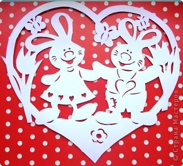 "Сердечко ""Милые зайчишки"" фото 1"