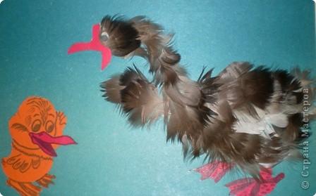 Птичка своими руками их перьев
