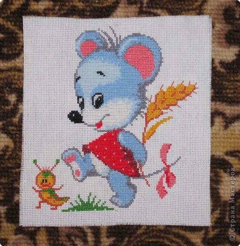 Вышивка крестом: Мышка-норушка