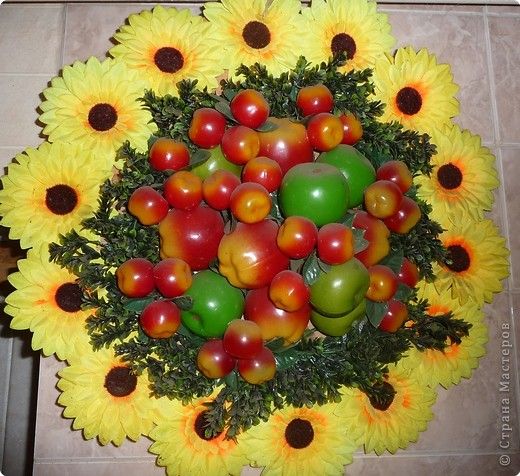 Поделка искусственных из овощей и фруктов