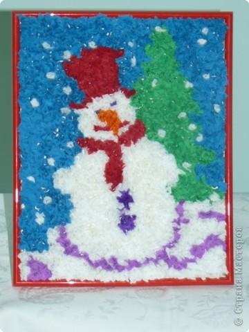 Веселый снеговичок Карасёвой Анастасии