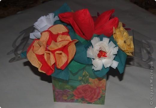 Вот такую коробочку с декупажем внутренним и внешним выполнила для подарка и мастер класса, который сегодня давала на свой город. фото 1