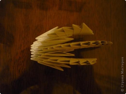 Китайский дракон:  Всего использовано 811 треугольных модулей размером примерно 37×53 мм. Это примерно около 26 листов формата А4. фото 8